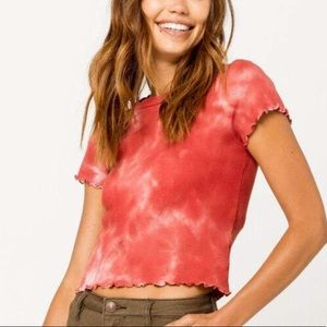 Tilly's Red Tie Dye Shirt